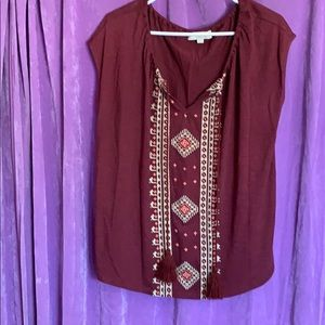 Lucky Brand peasant style top